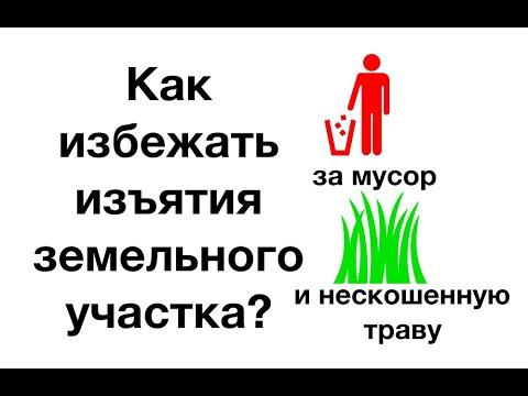 Как избежать изъятия земельного участка за мусор или нескошенную траву?