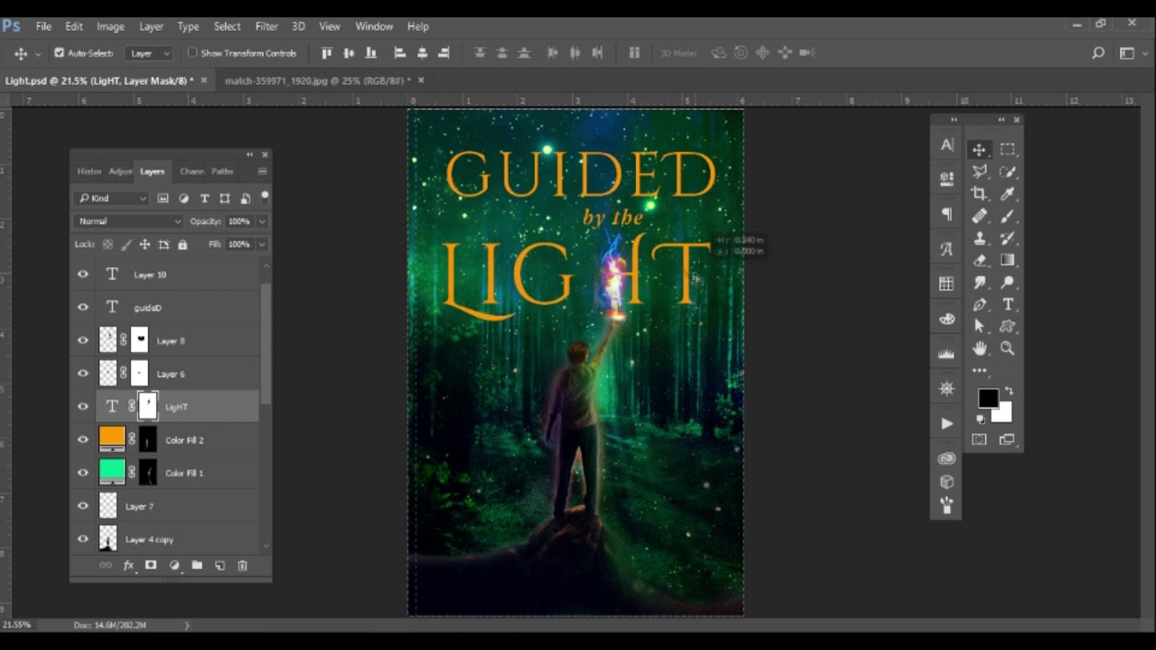 Making An Urban Fantasy Genre Book Cover Design Youtube