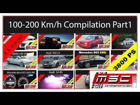 100 - 200 Km/h Compilation Part 1 Acceleration | Motorsportcheck.de