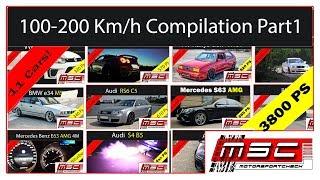 100 - 200 Km/h Compilation Part 1 acceleration   Motorsportcheck.de