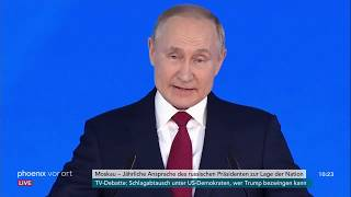 Ansprache von Wladimir Putin (russischer Präsident) zur Lage der Nation am 15.01.20