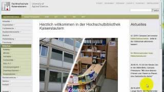 FH Kaiserslautern Bibliothek: 2. Service