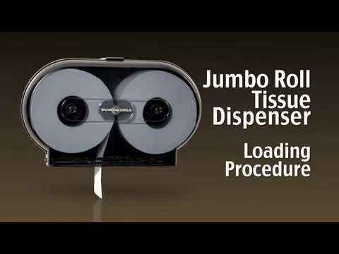 Twin Jumbo Roll Tissue Dispenser Loading Instructions - YouTube