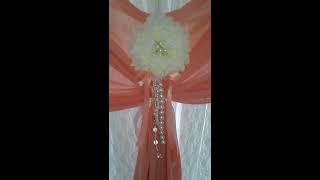 Оформление тканями свадьбы ресторан Фандорин город Королев