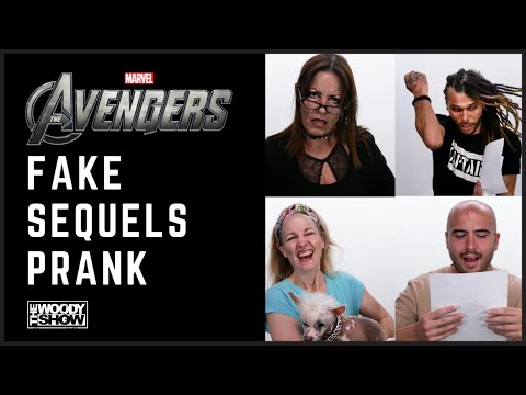 The Woody Show - Fake Avengers Sequels Prank