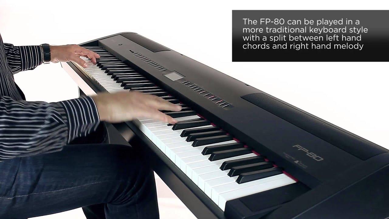 roland fp 80 digital piano rhythm sound preview youtube. Black Bedroom Furniture Sets. Home Design Ideas