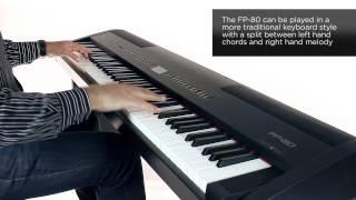 roland fp 80 digital piano rhythm sound preview