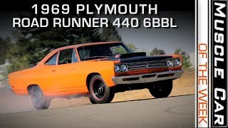 1969 1/2 Plymouth Road Runner A12 Six Barrel: Muscle Car Of The Week Video Episode 237