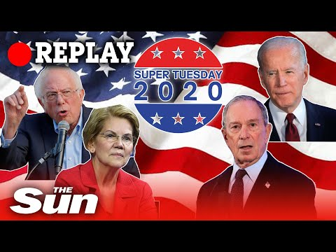 Super Tuesday – Primary election vote and Democratic candidate reactions – REPLAY