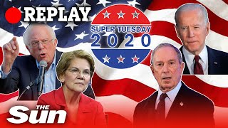 Super Tuesday - Primary election vote and Democratic candidate reactions - REPLAY