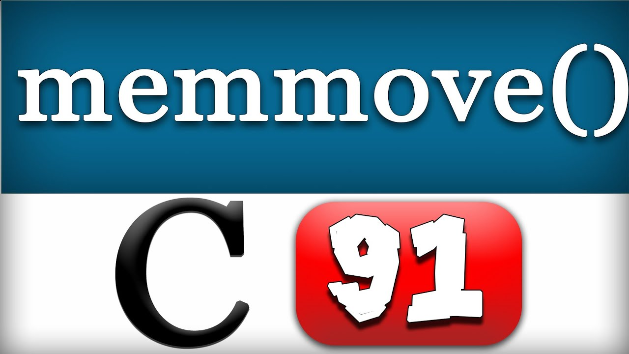 C Programming 95 - memmove Function