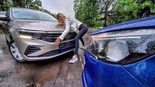 Новый Volkswagen Polo в базе vs Лада Веста ТОП. Жорик Ревазов. Михаил Кульдяев. Clickoncar.