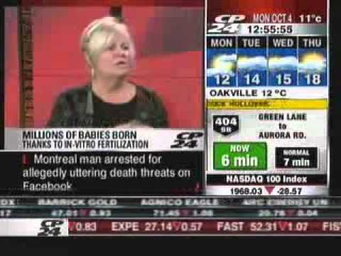 Jocelyn Smith Interviewed About Robert Edwards on CP24 at Noon