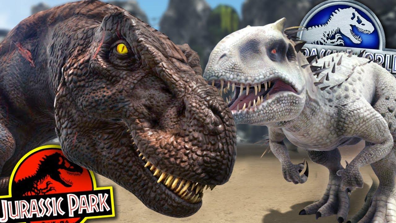 indominus rex vs rexy jurassic park franchise battle