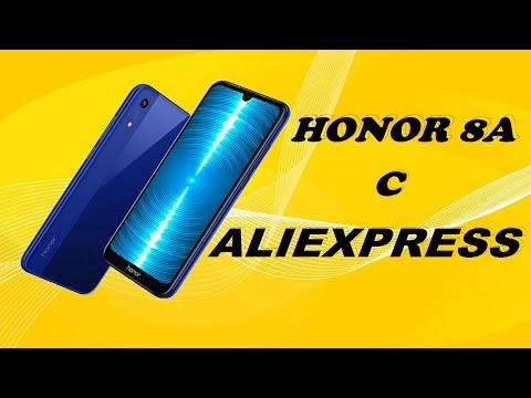 Распаковка и обзор телефона Хонор 8А с Алиэкспресс.