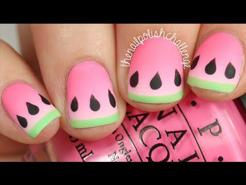 Watermelon Gradient Nail Art DIY || KELLI MARISSA