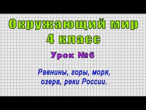 Окружающий мир 4 класс (Урок№6 - Равнины, горы, моря, озера, реки России.)