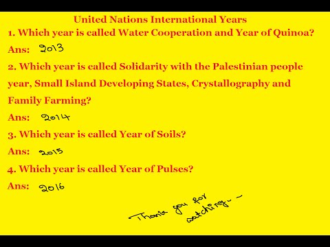 RRB EXAM DURATION | United Nations International Years | Water Cooperation and Year of Quinoa