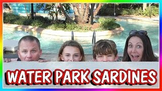 SARDINES AT OUR HOME WATER PARK | HIDE AND SEEK | We Are The Davises