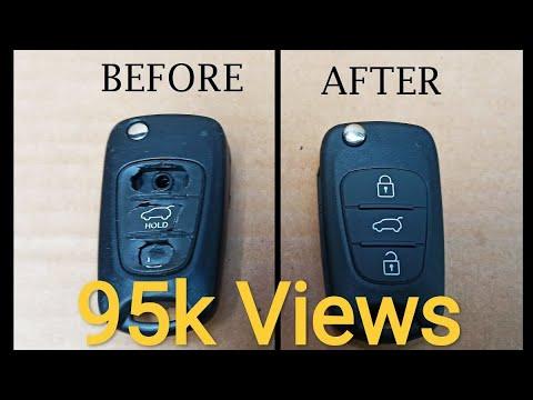 How To Replace Your Hyundai Remote Key Fob Case Flip Key i10 i20 i30 i40 ix25 ix35 ix55 – Easy DIY