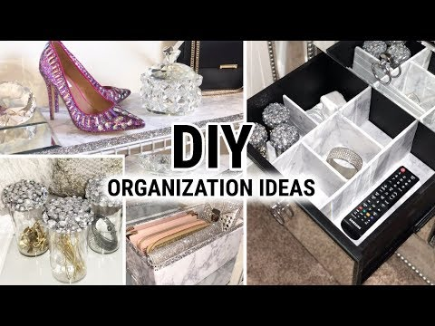 DIY Home Organizing Ideas | Dollar Tree DIY Mirror and Marble | Decor and Organization DIY