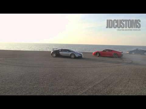 Watch a Ferrari Run Rings Around a Bugatti Veyron