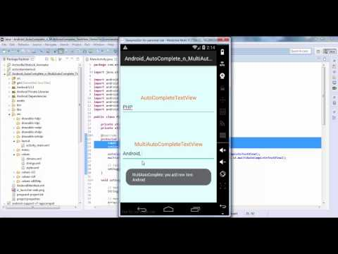Android AutoComplete TextView - Androhub