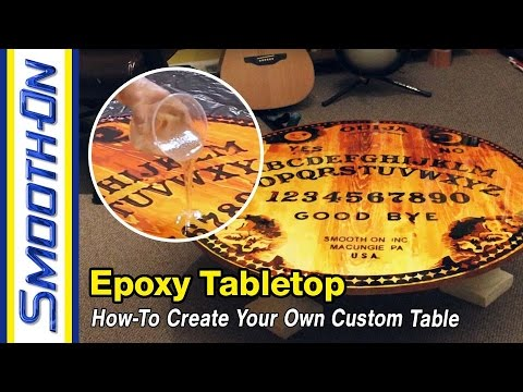How To Make an Epoxy Tabletop with Custom Graphics Using Tarbender®