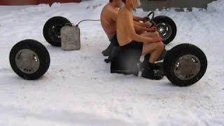 Авто приколы зима , Auto fun