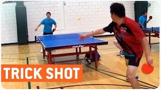 Amazing Ping Pong Trick Shot | Behind the Back