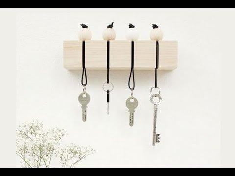 DIY | How to make a wooden key holder | Diy wall decor | Room decor | Diy organizer | Diy key chain
