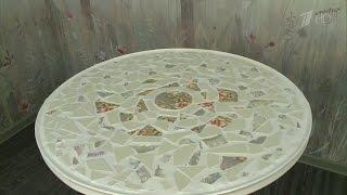 Декорируем стол битой посудой. Фазенда. Фрагмент выпуска от 15.11.2015