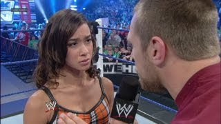 Daniel Bryan tells AJ that he wishes she was never born: SmackDown - April 20, 2012