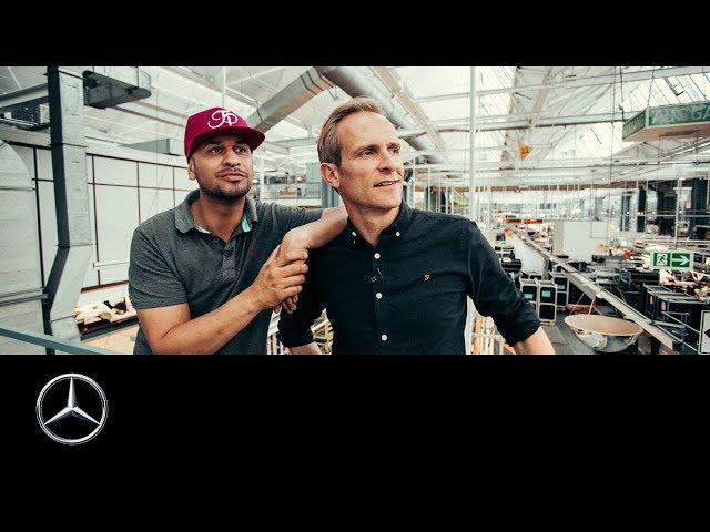 JP Kraemer und Matthias Malmedie: Unterwegs im Mercedes-Benz Werk Sindelfingen