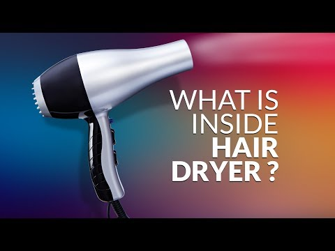 What is inside hair dryer ? Disassemble