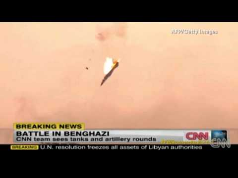 Jet shot down over Libya (Benghazi Libyen - March 19, 2011)