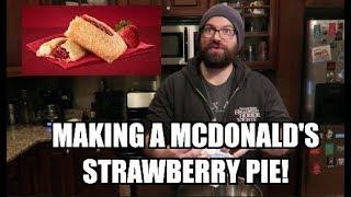 Making a McDonald's Strawberry Pie!!