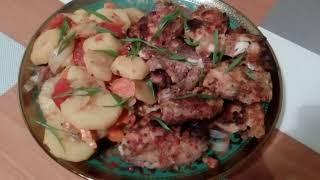 Рыба под маринадом с овощами в духовке