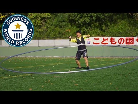 Largest hula hoop spun – Guinness World Records