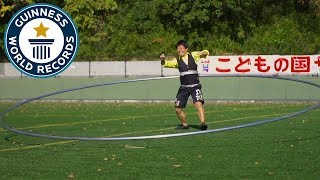 Largest hula hoop spun - Guinness World Records Day