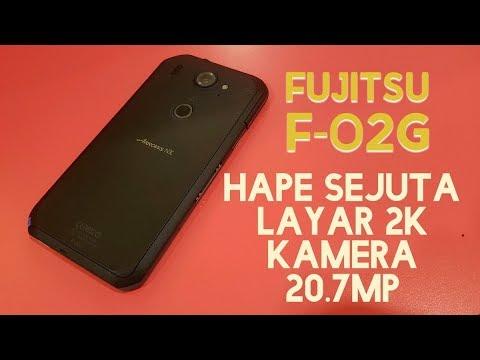 Fujitsu F-02G hape murah bentuknya gagah spek melimpah (hands on)