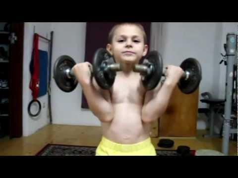 Kids workout biceps