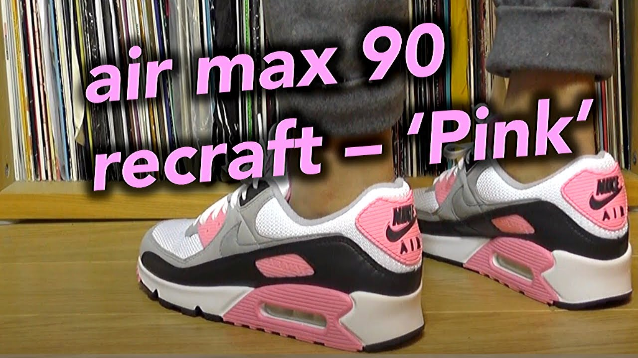 Nike AIR MAX 90 OG RECRAFT PINK/ROSE On Feet, Review and Sizing!!! UK (Air Max 90 OG in Pink)