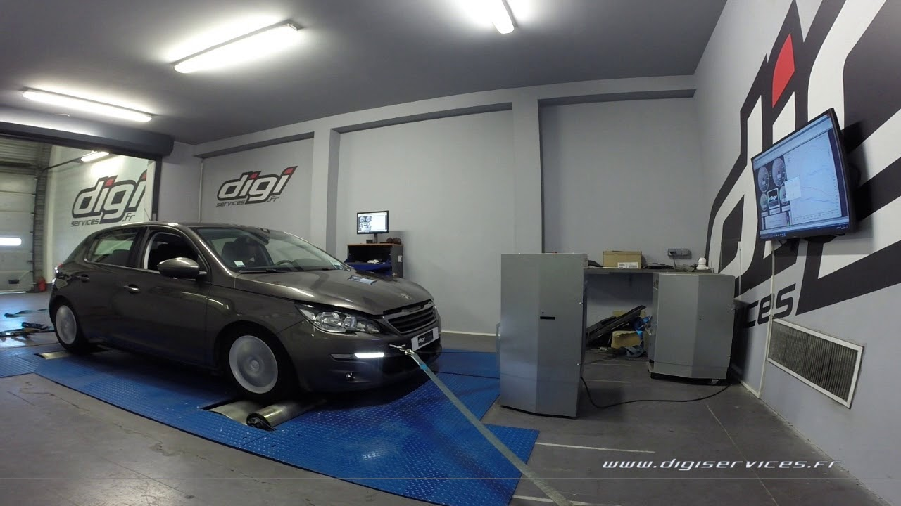 Garage Peugeot Paris Peugeot 308 1 6 Thp 125cv Reprogrammation Moteur 179cv Digiservices Paris 77 Dyno