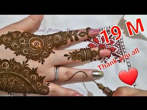 زواقة رومية جميلة جدا في يدين جميلة غاية في الاتقان 😍 Drawing with henna in beautiful hands - New Henna Marocain kaouter