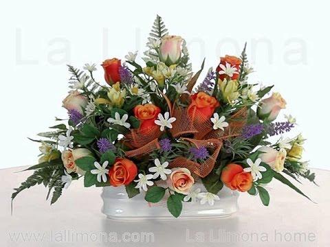 Arreglos Florales Jardinera Cerámica Rosas Artificiales