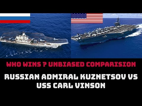 WHO WINS ? RUSSIAN ADMIRAL KUZNETSOV vs  USS CARL VINSON