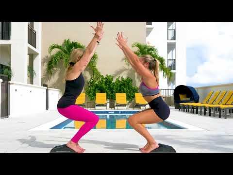 Yoga Duo: Chair Pose