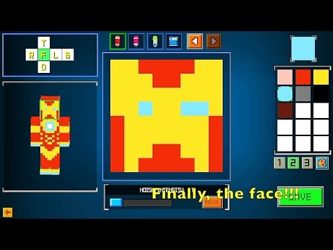 Learn How To Create Iron Man Golden Avenger custom skin in 2 Min Cops N Robbers (fps) Mine Mini Game