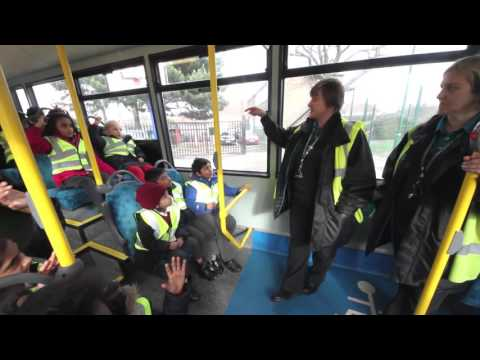 Lessons on an Arriva London bus for Ilford's Newbury Park Primary School children
